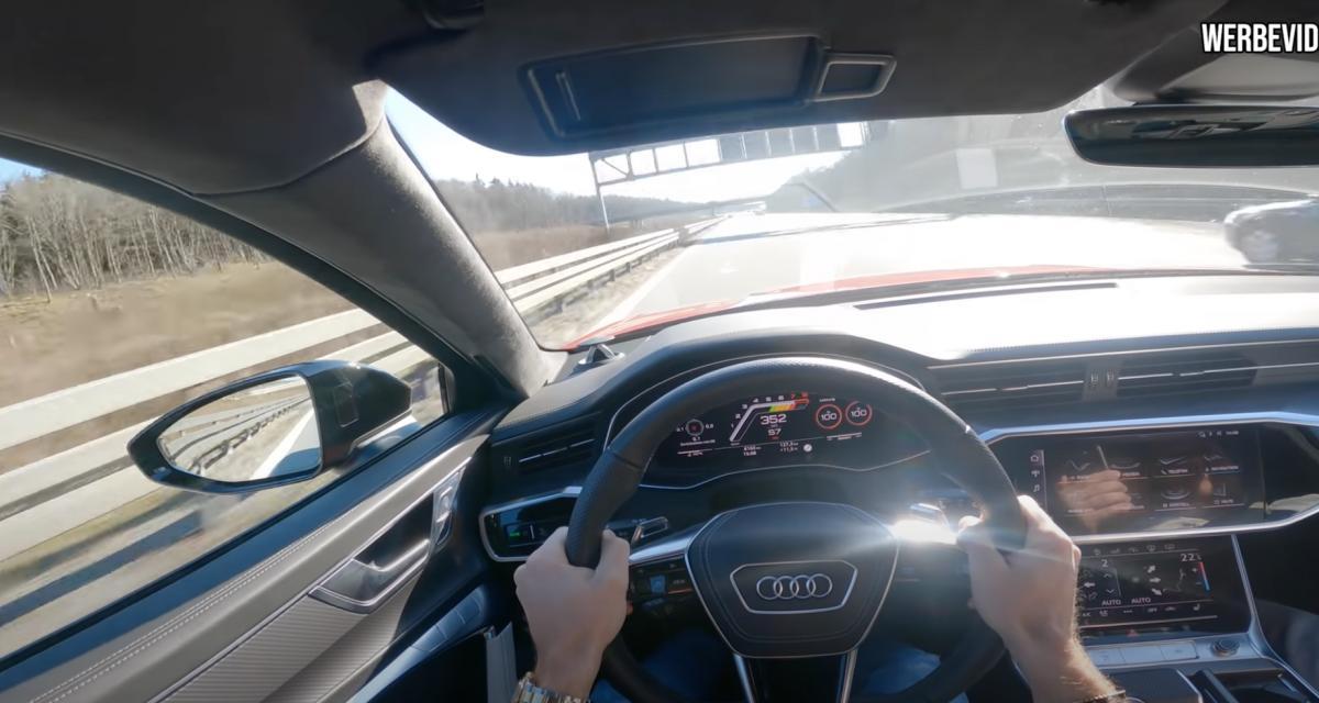 VIDEO - À plus de 350 km/h sur l'autoroute, cette Audi RS6 préparée explose tout sur son passage