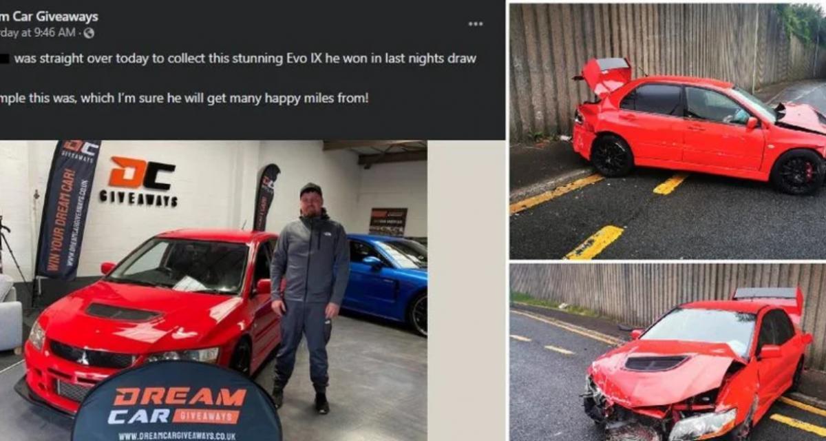 La pépite du jour : il explose sa nouvelle voiture, 24 heures après l'avoir gagné