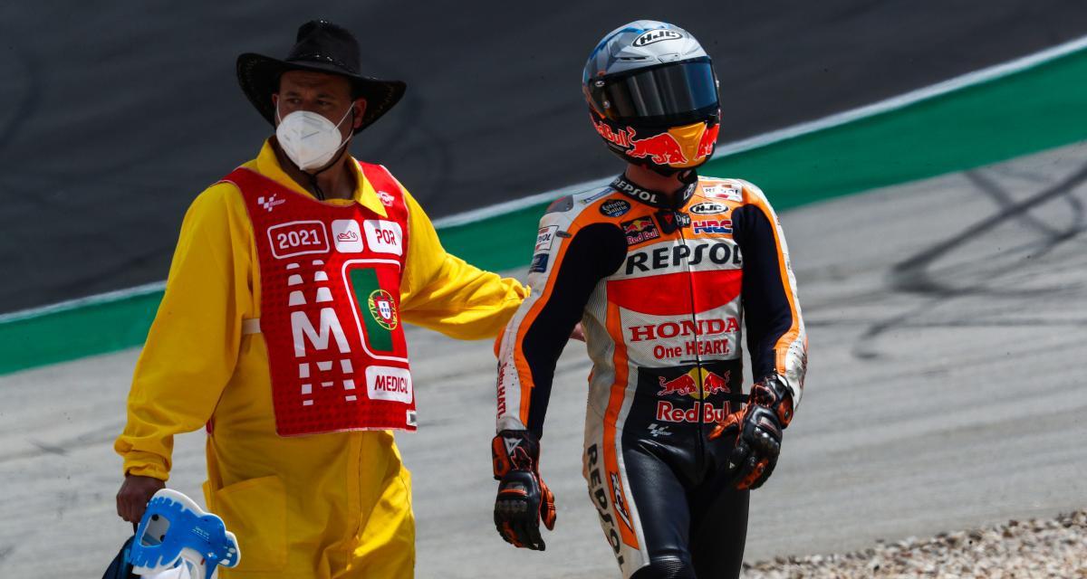 GP d'Espagne de MotoGP : la chute de Pol Espargaro lors du Warm Up en vidéo
