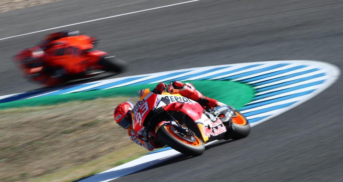 GP d'Espagne de MotoGP : la chute de Marc Marquez lors du Warm Up en vidéo
