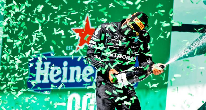 GP du Portugal de F1 : la réaction de Lewis Hamilton après sa victoire en vidéo
