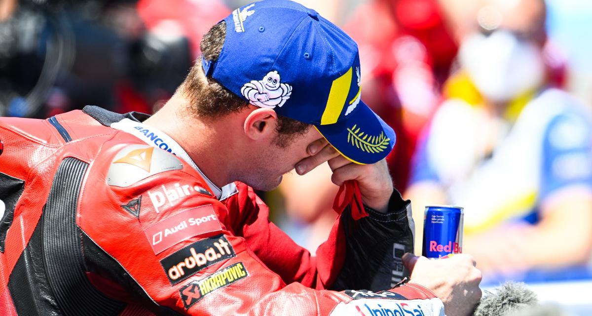 GP d'Espagne de MotoGP : la célébration de Jack Miller dans le garage Ducati après sa victoire