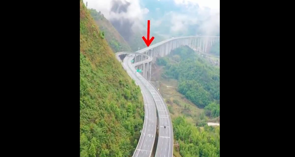 VIDEO - Faire demi-tour sur l'autoroute, grâce à cette voie spéciale en Chine, c'est possible !