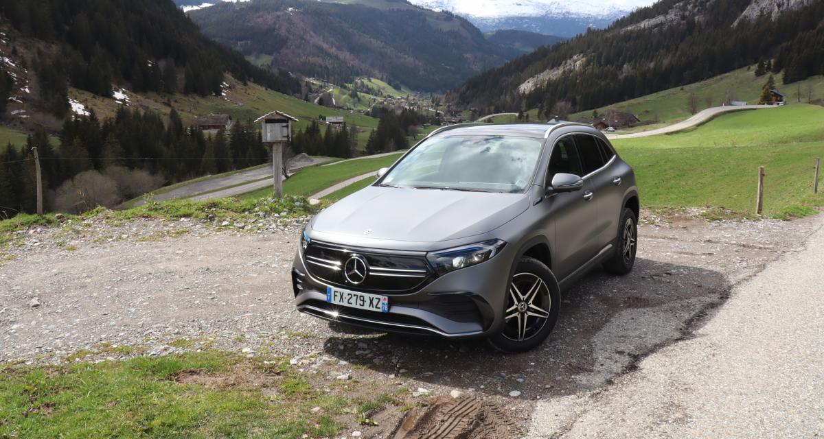 Essai du nouveau Mercedes EQA (2021) : nos photos du SUV compact germanique