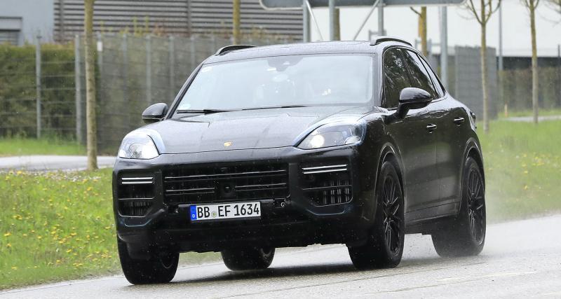 Porsche Cayenne restylé (2022) : déjà sur la route, encore sous camouflage