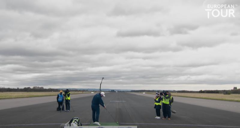 Record du monde : ce golfeur professionnel envoie une balle dans une BMW M8 en mouvement à près de 280 mètres