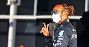 GP d'Espagne de F1 : la réaction de Sir Lewis Hamilton après sa 100e pole position