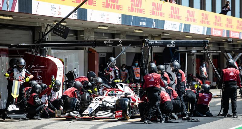 GP d'Espagne de F1 : l'arrêt au stand raté d'Antonio Giovinazzi en vidéo