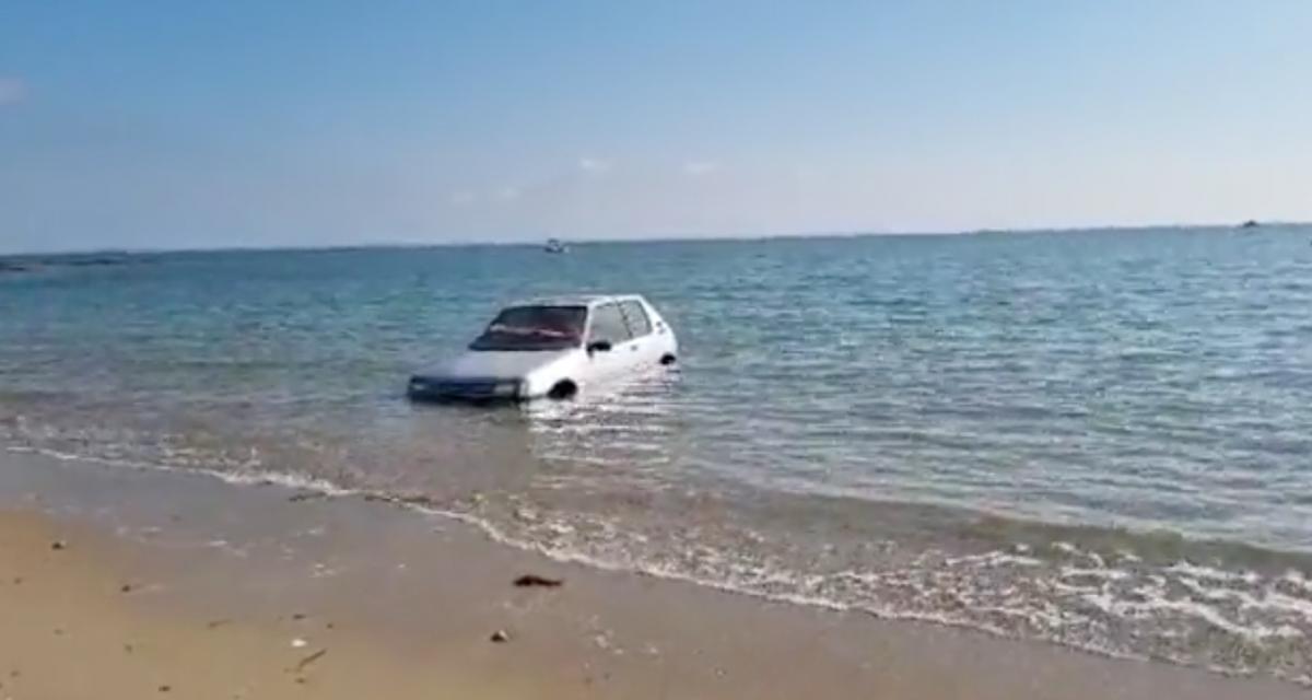 VIDEO - À Noirmoutier, on peut pêcher des crabes mais également des voitures…