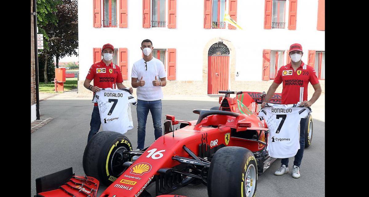 Cristiano Ronaldo en visite chez Ferrari, pour s'acheter la nouvelle 812 Competizione ?
