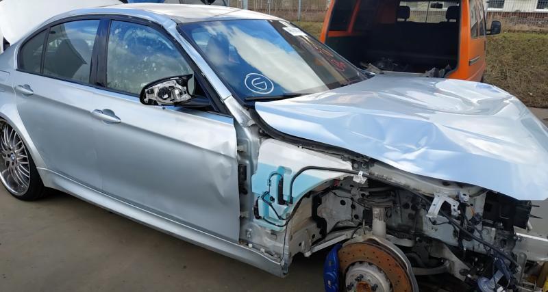 VIDEO - Ils remettent à neuf cette BMW M3 complètement détruite… ou presque
