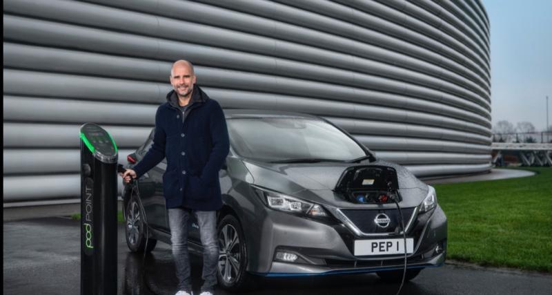 Après Eden Hazard, c'est au tour de de Pep Guardiola de donner ses impressions sur la Nissan Leaf, 100% électrique