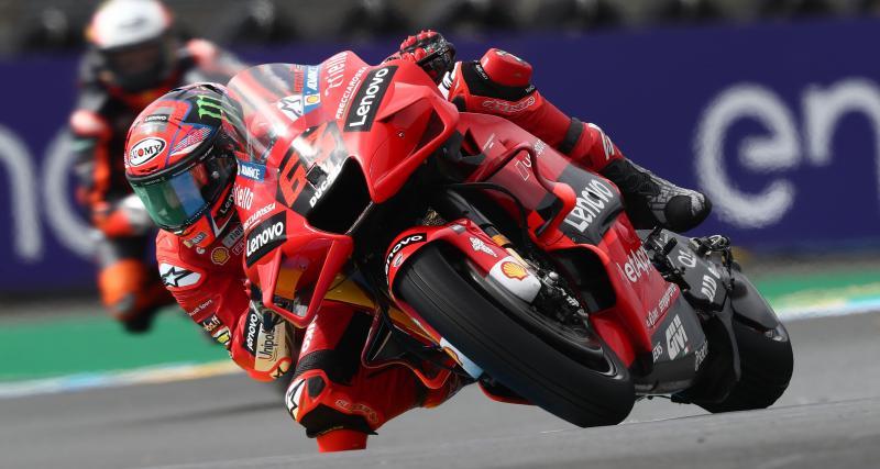 GP de France de MotoGP : la chute de Francesco Bagnaia lors des essais libres 2 en vidéo