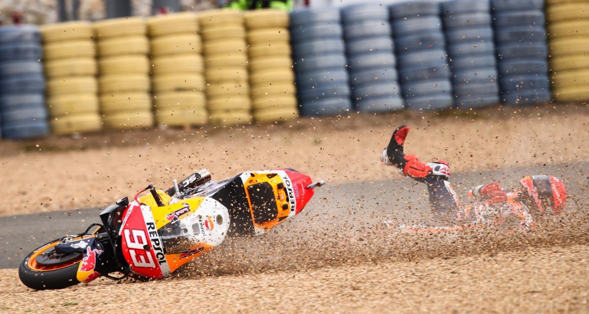 GP de France de MotoGP : la chute de Marc Marquez en vidéo