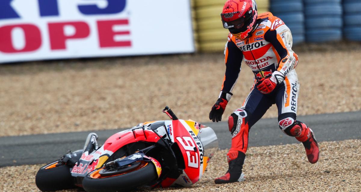GP de France de MotoGP : la deuxième chute de Marc Marquez en vidéo