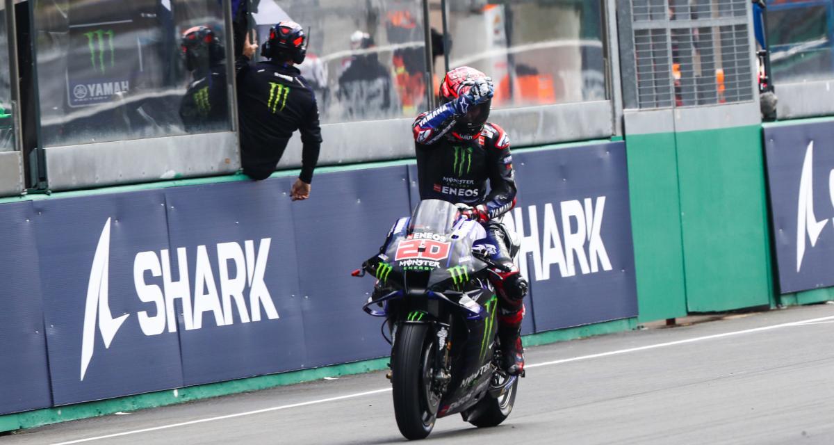 GP de France de MotoGP : l'infraction de Quartararo pendant le flag to flag en vidéo