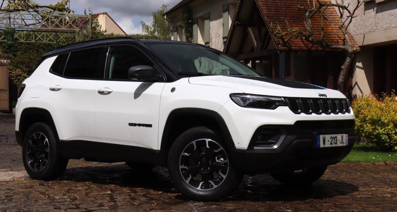 Essai du nouveau Jeep Compass 4xe restylé : nos photos du SUV compact hybride rechargeable