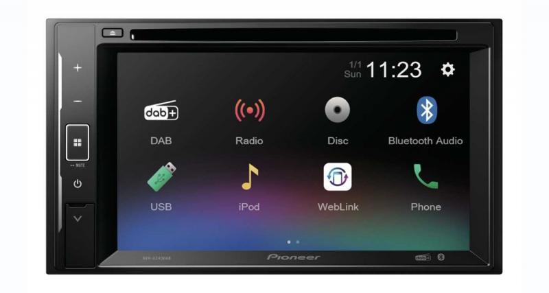 Pioneer commercialise un autoradio DVD avec MirrorLink à prix canon