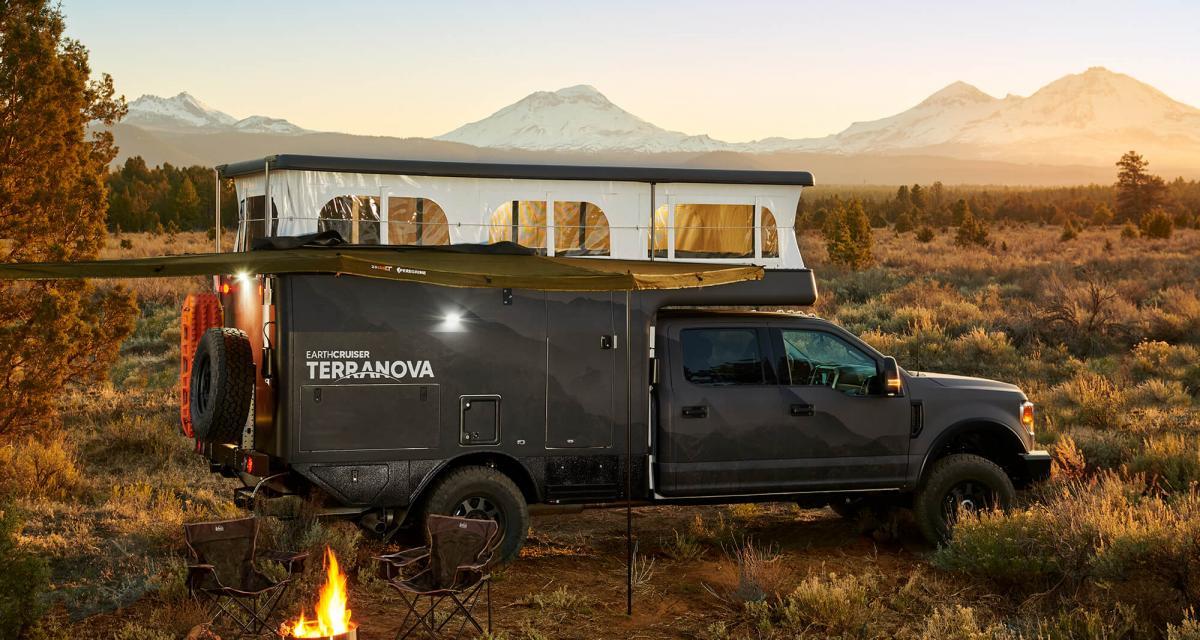 Camping-car EarthCruiser Terranova : un off-road camper ultra robuste et équipé pour votre pick-up