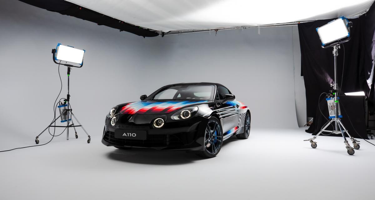 Alpine A110S by Felipe Pantone : une Art car présentée au GP de Monaco 2021