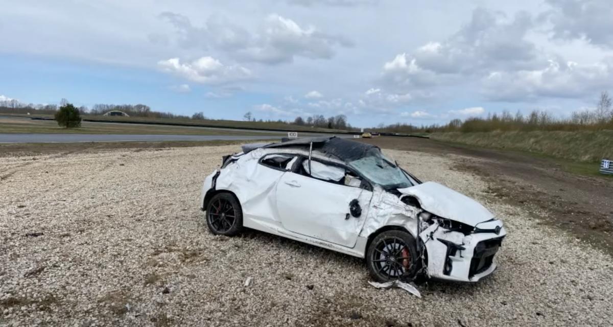VIDEO - Cette Toyota GR Yaris n'a pas eu beaucoup de chance lors de ses essais sur piste