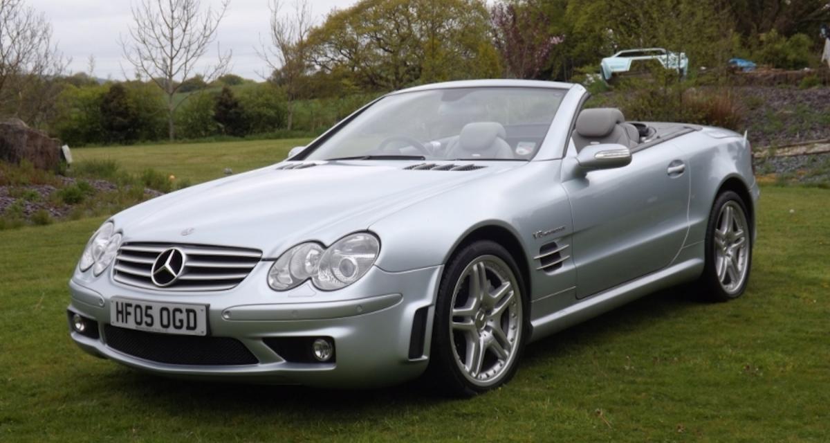 """Mercedes SL 55 AMG """"F1"""" : un performant roadster dont il faut se souvenir"""