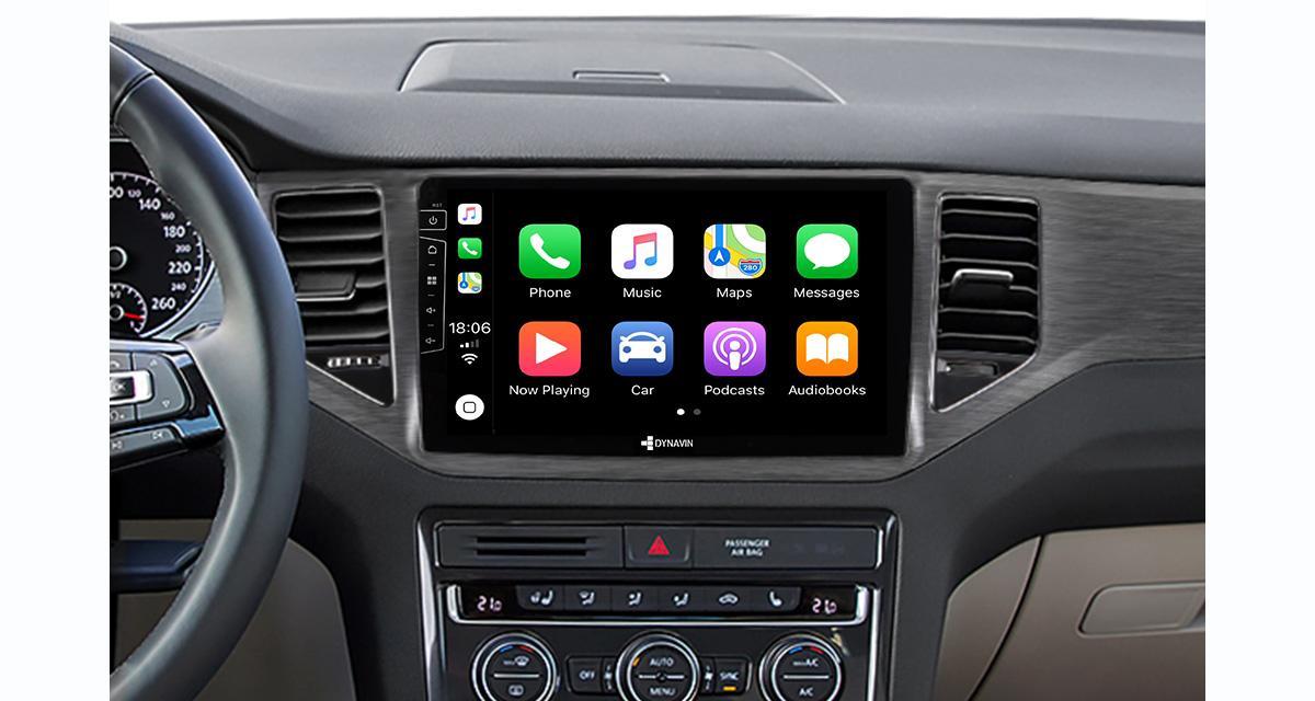 Un autoradio CarPlay 10 pouces pour la VW Golf 7 Plus chez Dynavin