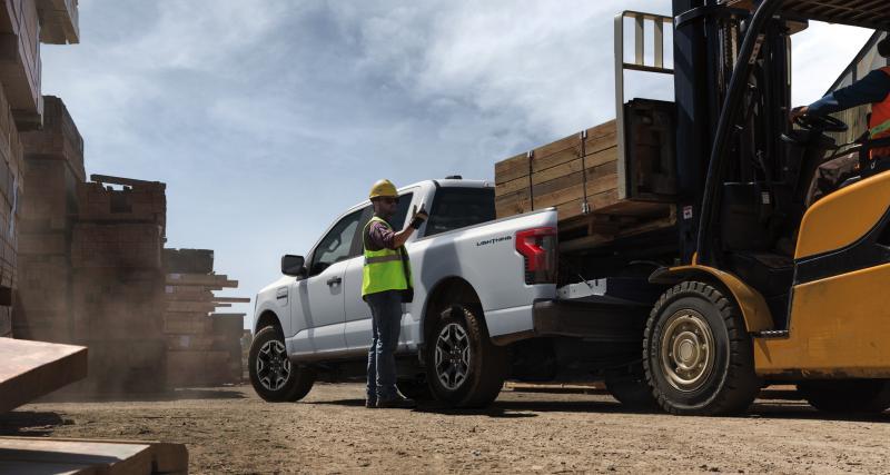 Ford F-150 Lightning Pro : le pick-up 100% électrique se décline déjà en version utilitaire
