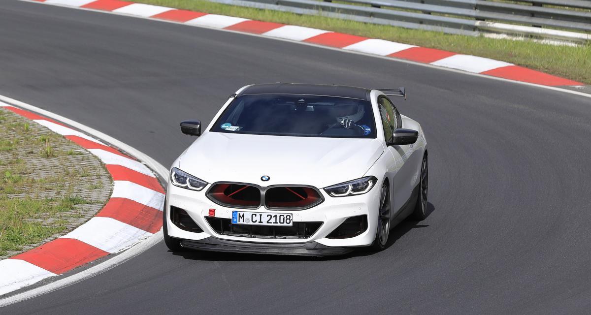 BMW M8 CSL (2022) : la sportive prêt pour la production vue sur le Nürburgring !