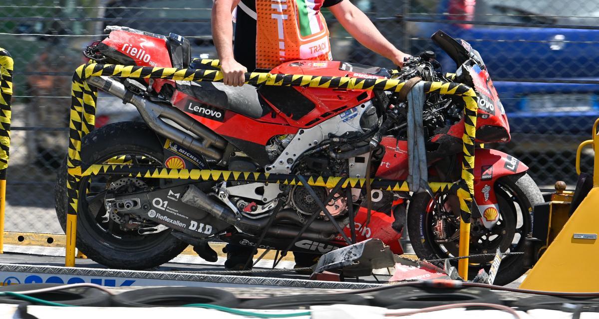 GP d'Italie de MotoGP : la chute de Bagnaia au 2e tour en vidéo