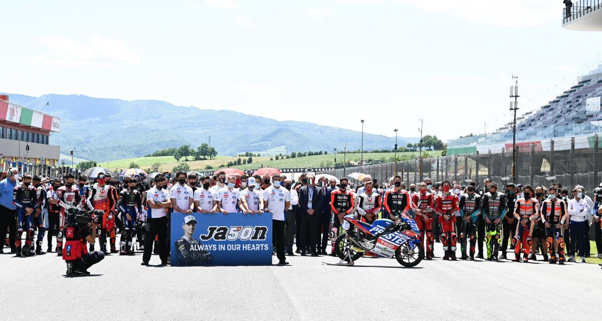 MotoGP : GP d'Italie de MotoGP : la minute de silence hommage à Jason Dupasquier en vidéo
