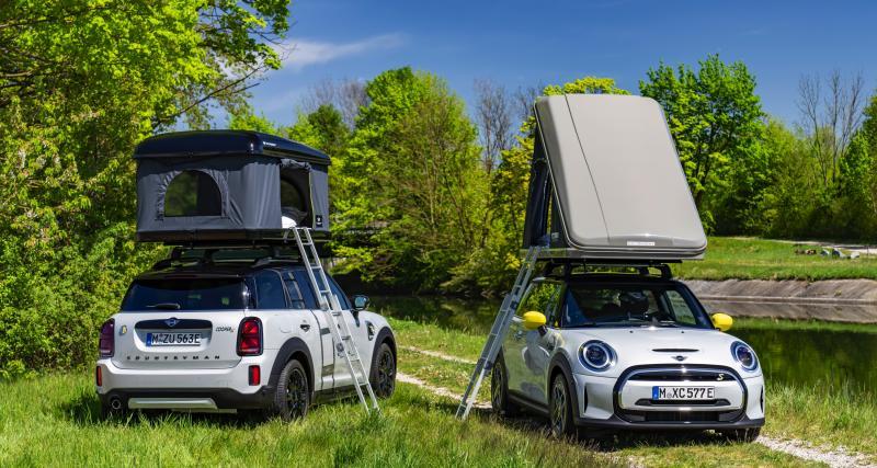 Camping-car : des tentes de toit 100% évasion pour les Mini Cooper SE et Countryman ALL4