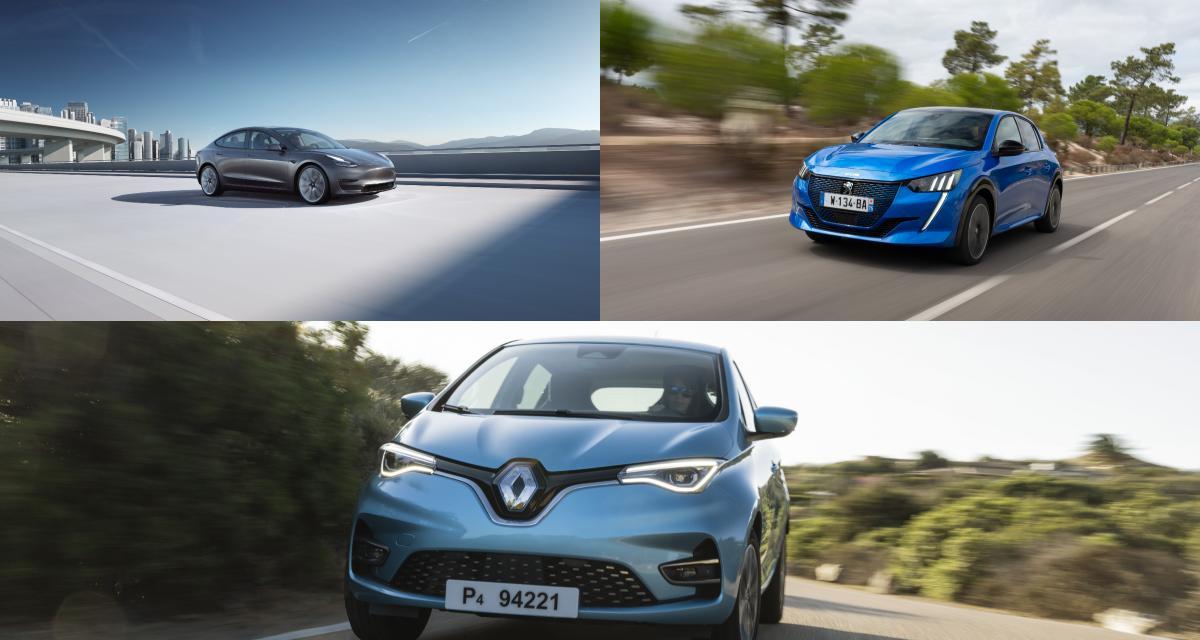 Renault Zoe, Tesla Model 3… Top 10 des voitures électriques les plus vendues en mai 2021
