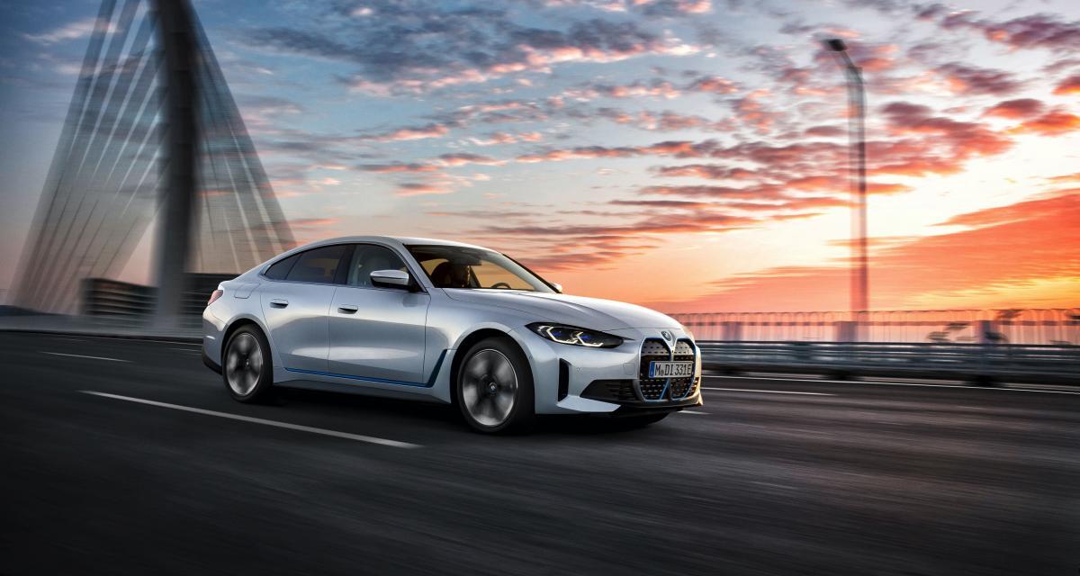 BMW i4 (2021) : plus de 500 km d'autonomie pour la berline bavaroise