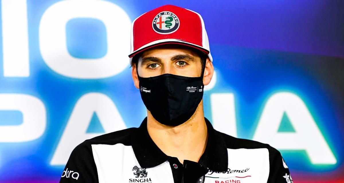 F1 : Antonio Giovinazzi félicite le vainqueur du tour d'Italie 2021 sur les réseaux