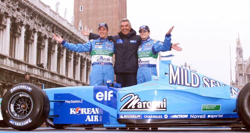 Il y a 21 ans… le 100e podium de l'écurie Benetton en F1