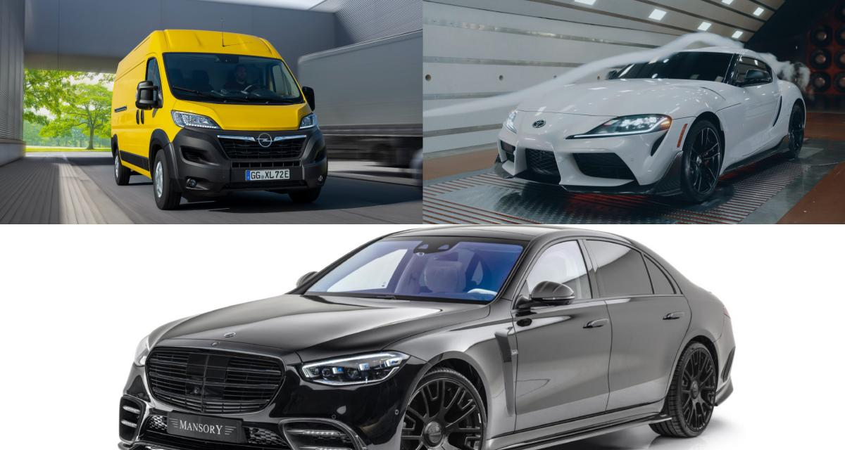Les nouveautés auto de la semaine - 1ère partie : Toyota GR Supra, Opel Movano électrique, Mercedes Classe S