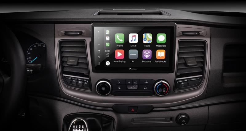 Un autoradio CarPlay Pioneer idéal pour les camping-cars Ford Transit