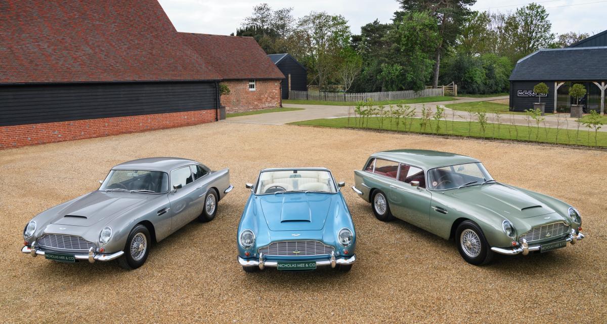 Aston Martin DB5 Vantage : un trio unique au monde à vendre pour 4M£