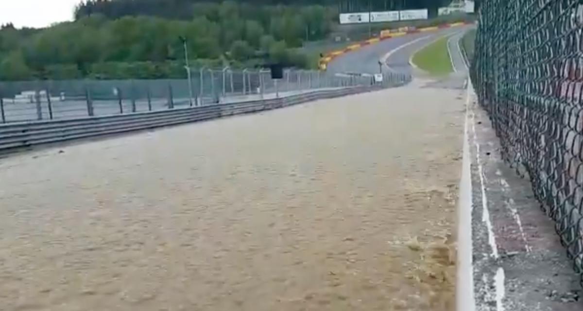 VIDEOS - Le raidillon de l'eau rouge à Spa transformé en rivière après des pluies torrentielles