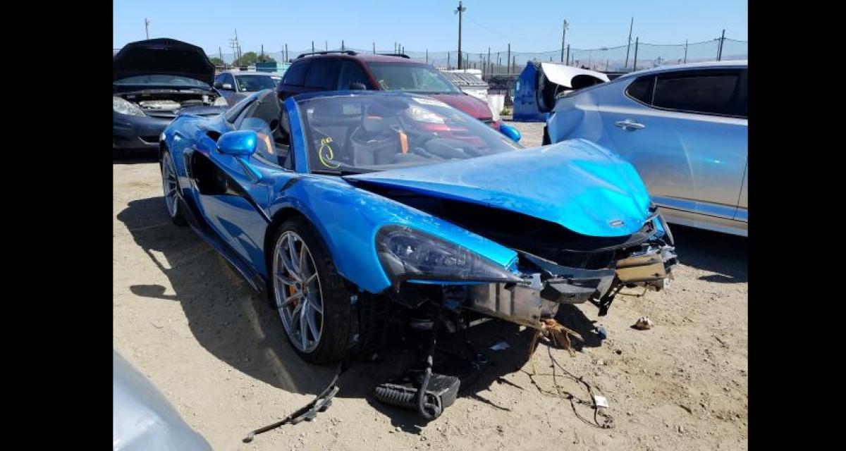 Même complètement détruite, cette McLaren 600LT est à vendre aux enchères pour une petite fortune