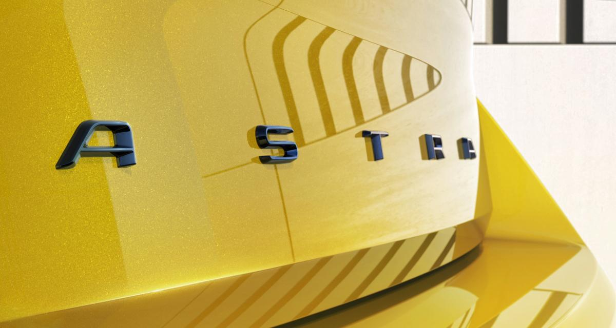 Opel Astra (2021) : photos teasing pour la compacte allemande avec de nombreux détails