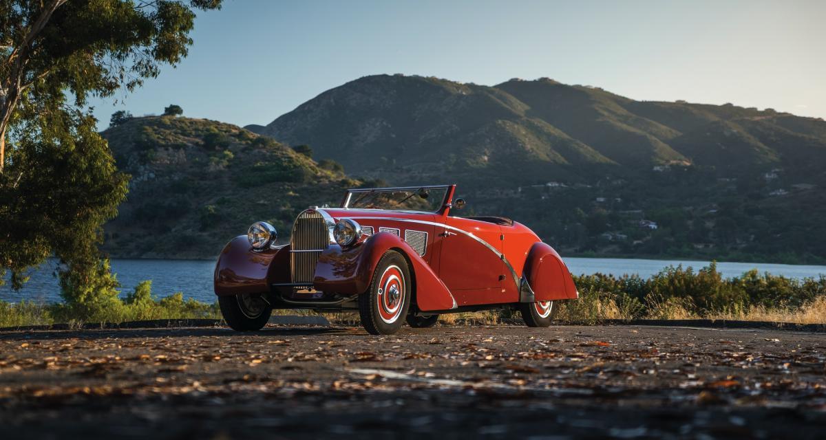 Bugatti Type 57 Cabriolet : un rêve à quatre roues vêtu de pourpre