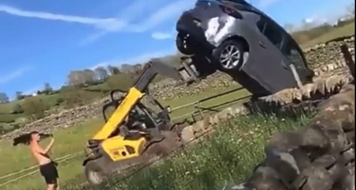 VIDEO - Il ne fallait pas énerver cet agriculteur en se garant au milieu de son chemin