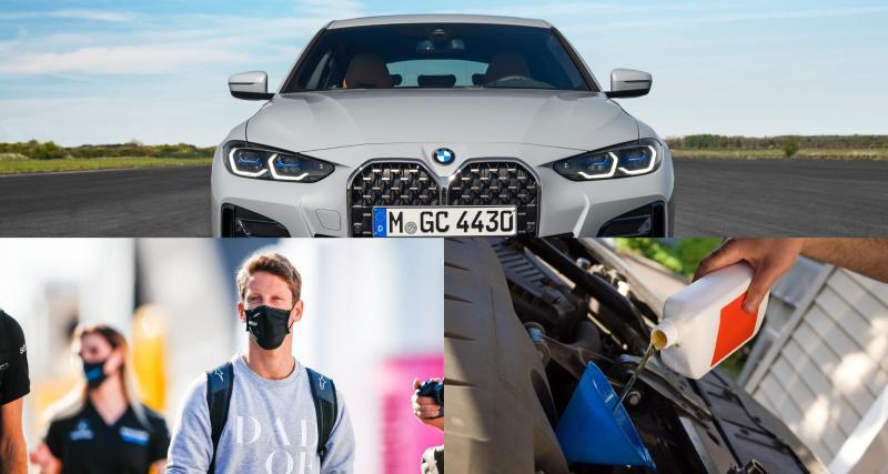 BMW Série 4 Gran Coupé, Romain Grosjean en camping-car, vidange : l'actu auto du 9 juin