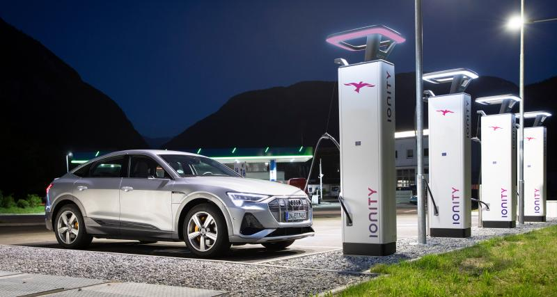 Audi sur le réseau Ionity : le prix de l'abonnement