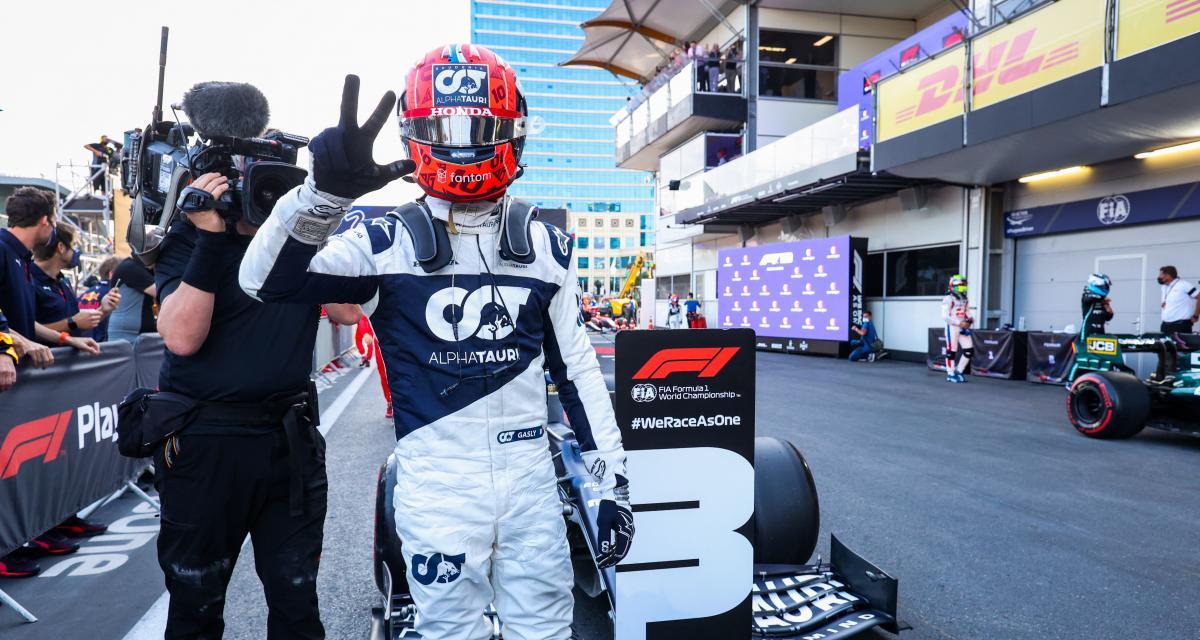 Grand Prix d'Azerbaïdjan de F1 : Gasly réclame une enquête pour comprendre pourquoi sa monoplace a été aussi performante