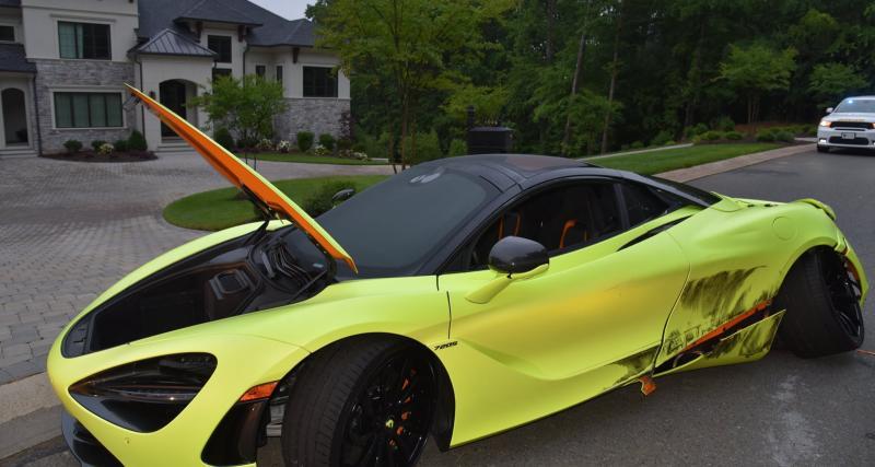 Un ancien joueur de NFL se fait voler sa McLaren 720S chez lui et la retrouve accidentée quelques mètres plus loin