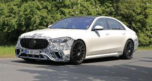 Mercedes-AMG Classe S 63 (2022) : la limousine sportive peaufine ses réglages en Allemagne
