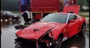 L'une des Ferraris les plus rares au monde retrouvée à moitié détruite après un accident